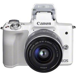 Canon EOS M50 Body With EF-M 15-45mm IS STM Lens Kit - White Thumbnail Image 1
